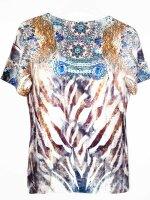 MISSY Shirt ORNAMENTE  Glitzer Halbarm