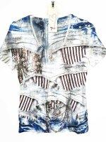 MISSY Shirt BLUE COLLECTION  Glitzer Halbarm