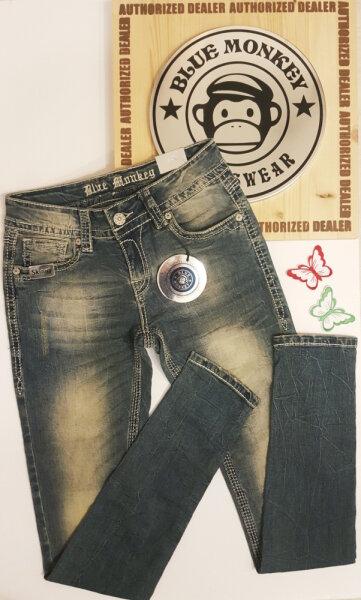 Blue Monkey Jeans Luna 3642 Stickerei Laenge 34