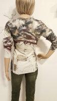 MISSY Shirt Glitzer Camouflage mit Rotton