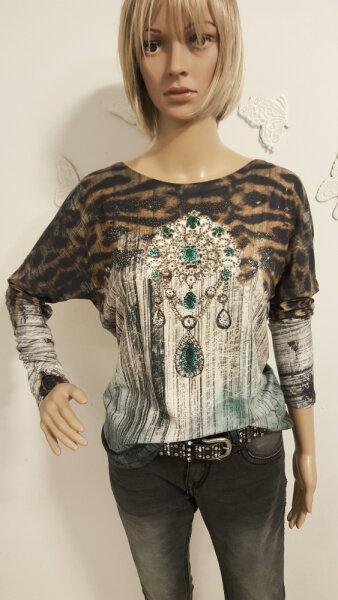 MISSY Shirt Glitzer Smaragd