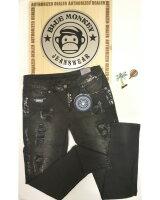 Blue Monkey Jeans Honey 1676 Silber-Schwarz Skinny