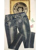 Blue Monkey Jeans Ruby 1458 Skinny Silber-Streifen