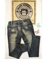 Blue Monkey Jeans Honey 1276 Pailletten Dunkelblau Skinny