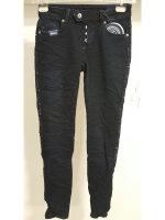 Blue Monkey Jeans Ruby 1702 Paillettenstreifen Skinny