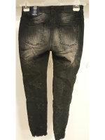 Blue Monkey Jeans Honey 1858 Sterne Fransen Cropped Skinny