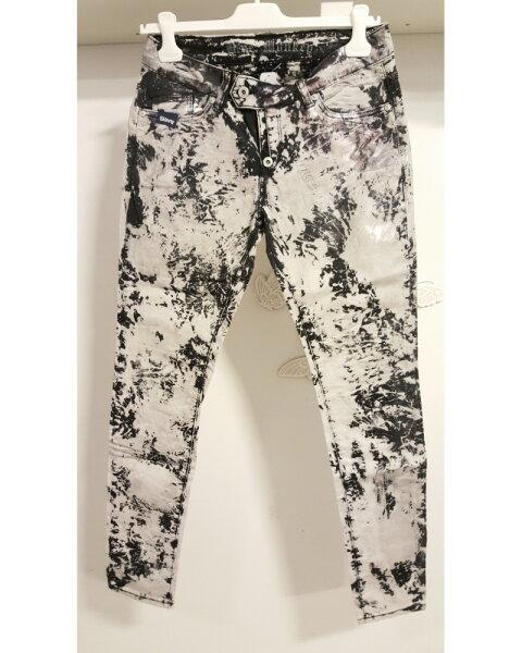 Blue Monkey Jeans Ruby 1463 Schwarz gecheckt / Skinny