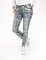 Blue Monkey Jeans Alexis 1720 Skinny/ Kariert/ Hellblau