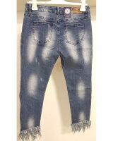 Blue Monkey Jeans Honey 8027 Fransen / Blau