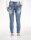 Blue Monkey Jeans Lucy 3931 Blau Luxury dicke Naht 7/ Länge