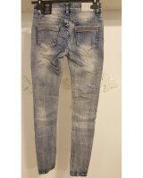 Blue Monkey Jeans Honey 1831 Destroyed Skinny Blau