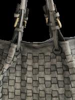 Stylische italienische Tasche Leder mit Flechtoptik Vintage Look viel Stauraum