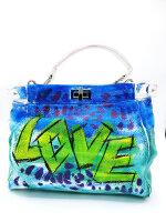 Stylische Tasche mit zwei Motiven - LOVE  CUTE