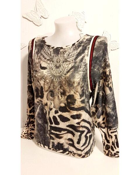 MISSY Shirt Glitzer Leoprint