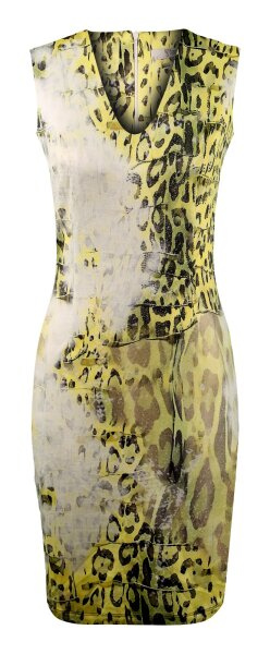 MISSY  Kleid Glitzer Print-Look Gelb