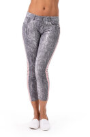 Blue Monkey Jeans Skinny 7/8 rosa Streifen