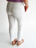 Blue Monkey Jeans Manie 30071 weiß 7/8 offener Saum