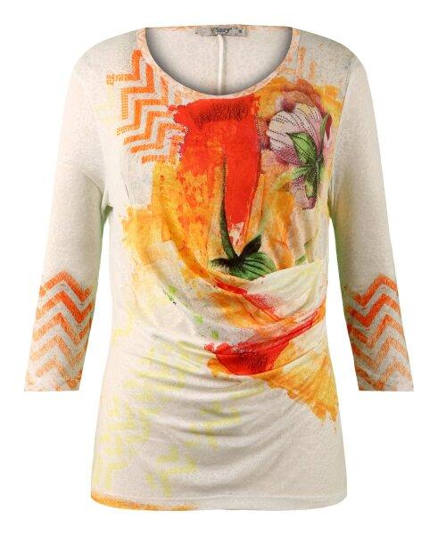 MISSY Shirt Glitzer seitliche Raffung