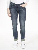 Blue Monkey Jeans Ruby 10308 Skinny Fit brauner Seitenstreifen
