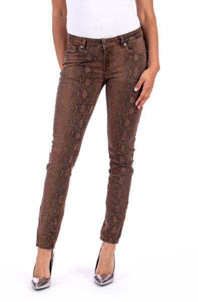 Blue Monkey Jeans Honey 10352 Skinny Snake Print braun