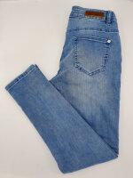 Blue Monkey Jeans Honey 10409 Cropped Skinny Denim Double Stripes