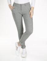 Blue Monkey Jeans Chino Skinny Checkered Blue Sidestripe...