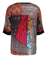 MISSY Shirt  Glitzer Multicolour weiter geschnitten Halbarm
