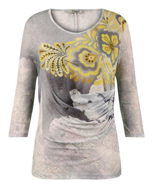 MISSY Shirt  Glitzer Gelb Blumen toller Schnitt