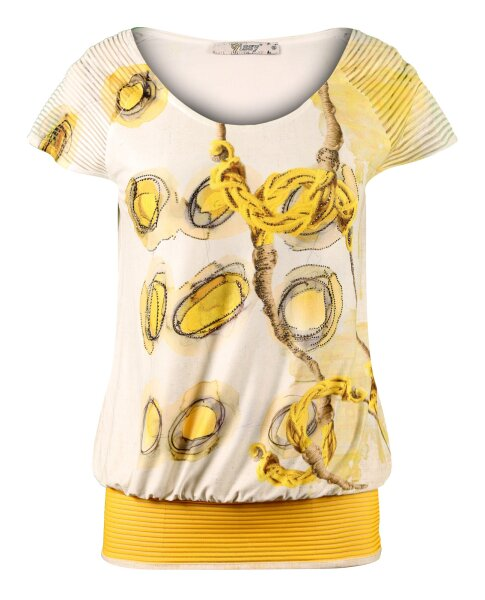 MISSY Shirt Glitzer Gelb Kordel