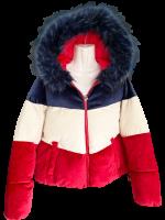 Trend Puffer Jacke im angesagtem Colour Block
