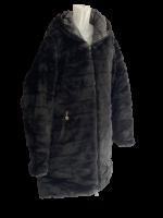 Stylische  Wendejacke Schwarz  - Stepp Teddy