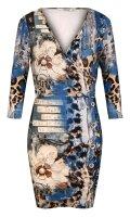 MISSY Kleid Glitzer in schönen Herbstfarben mit 3/4 Arm