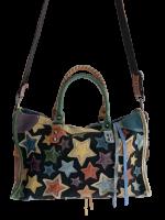 Stylische Tasche Leder mit Sternenmotiv viel Stauraum...