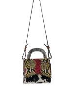 Stylische italienische Leder Tasche mit verschiedenen Animalprint Mustern