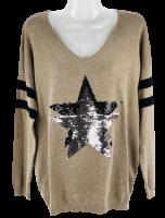 Topmodischer Pullover mit  Sternapplikation
