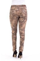 Blue Monkey Jeans Laura 10626 Skinny / Leather Look / Brown