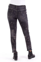 Blue Monkey Jeans Honey 10572 Cropped Skinny / Shining Print / Grey