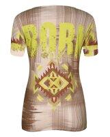 MISSY Shirt  Glitzer NEON V-Ausschnitt