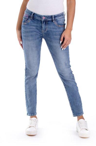 Blue Monkey Jeans Cherry 10689 Skinny Fit Cropped blau