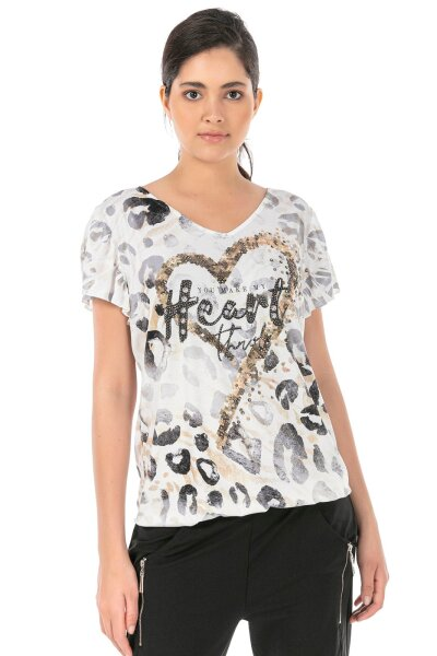MISSY Shirt Glitzer HEART L