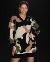 Long Pulli im Camouflage-Look