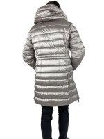 Stepp Jacke in Trendfarbe grau mit leichtem Glanz